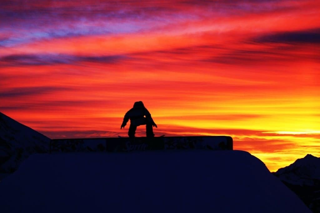 Snowboarding Wallpaper Sunset